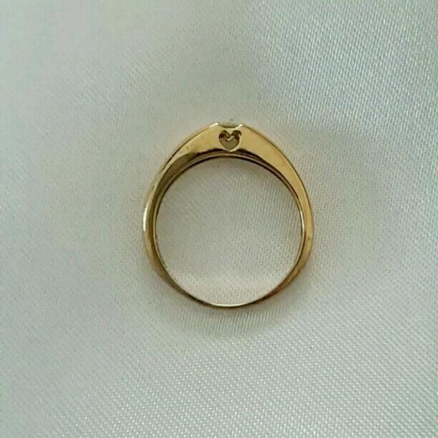 ピンキーリング 指輪 ダイヤ ct pg 本物 宝石 レディース 一粒ダイヤ レディースのアクセサリー(リング(指輪))の商品写真