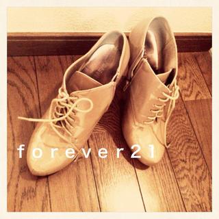 フォーエバートゥエンティーワン(FOREVER 21)のforever21☆レースアップヒール(ハイヒール/パンプス)