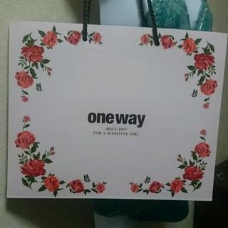 ワンウェイ(one*way)のone way  限定ショッパー (ピンク)(ショップ袋)