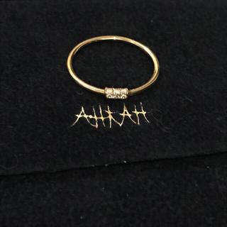 アーカー(AHKAH)のAHKAH K18 イエローゴールドリング9号(リング(指輪))