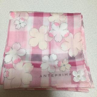 アンテプリマ(ANTEPRIMA)のハンカチ ピンク 花柄 布生地(ハンカチ)