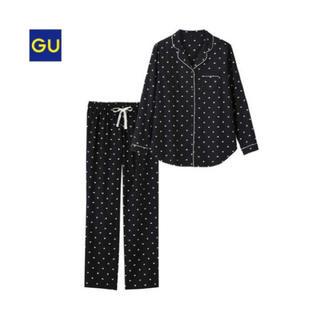 ジーユー(GU)のGU ハート柄パジャマ S(パジャマ)