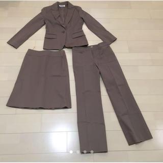 ナチュラルビューティーベーシック(NATURAL BEAUTY BASIC)の値下げ!パンツスーツ スカート ジャケットの3点セット(スーツ)