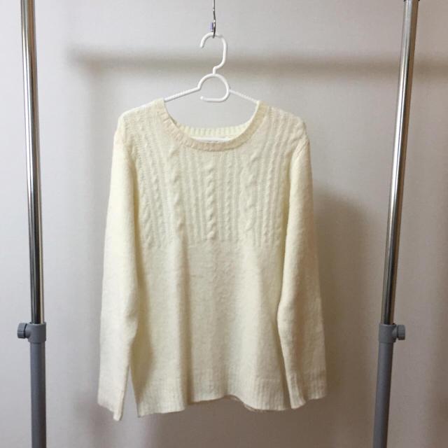 モヘアニット ホワイト メンズのトップス(ニット/セーター)の商品写真