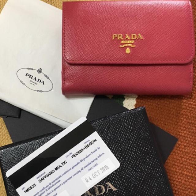 fbbfa9eef922 PRADA(プラダ)のPRADA☆サフィアーノマルチカラー二つ折り財布 レディースのファッション