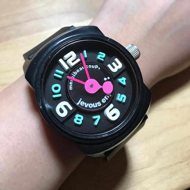 mercibeaucoup(メルシーボークー)の【値下げ‼︎】mercibeaucoup 腕時計 ブラック レディースのファッション小物(腕時計)の商品写真