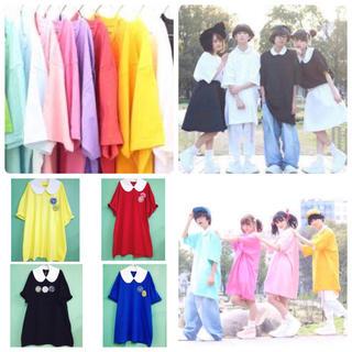薄ピンク&ネイビー(Tシャツ(半袖/袖なし))