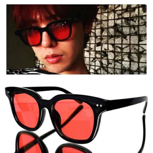 g-dragon着用赤レンズブラックフレームサングラス新品cray tokyo メンズのファッション小物(サングラス/メガネ)の商品写真