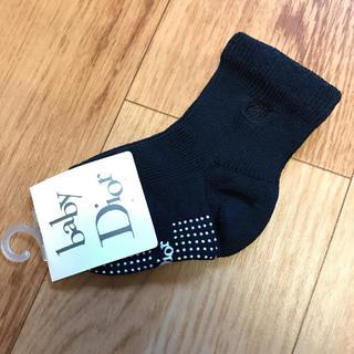 ベビーディオール(baby Dior)の【新品未使用】ベビーディオール ソックス 紺(靴下/タイツ)