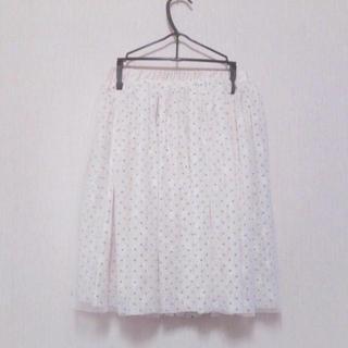 ワンアフターアナザーナイスクラップ(one after another NICE CLAUP)のDot tulle skirt♡(ミニスカート)