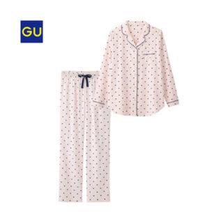 ジーユー(GU)のGU ハートパジャマ ピンク Lサイズ(パジャマ)