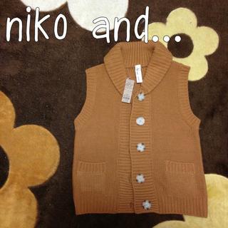 ニコアンド(niko and...)のniko and新品♡橙色ニットベスト(ベスト/ジレ)