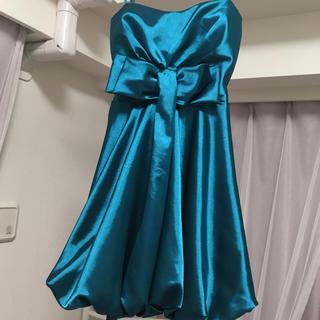 デイジーストア(dazzy store)のエメラルドグリーンパーティドレス(ミディアムドレス)
