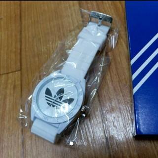 アディダス(adidas)のアディダスラバー ウァッチ ブラック 腕時計(ラバーベルト)