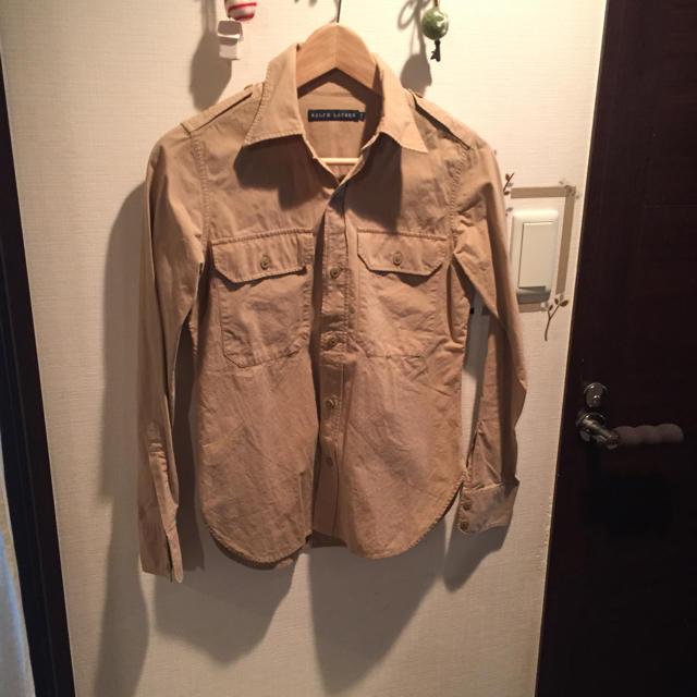 Ralph Lauren(ラルフローレン)のラルフローレン     ミリタリーシャツ   ベージュ レディースのトップス(シャツ/ブラウス(長袖/七分))の商品写真