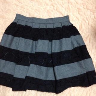 マーキュリーデュオ(MERCURYDUO)のウールボーダースカート(ミニスカート)