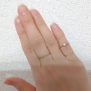 K10 ダイヤモンドピンキーリング(リング(指輪))