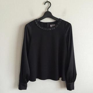 キッカザダイアリーオブ(KIKKA THE DIARY OF)のKIKKA♡黒色のデザインシャツ(シャツ/ブラウス(長袖/七分))