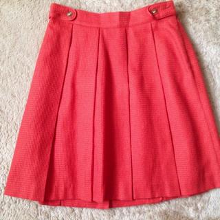 プーラフリーム(pour la frime)のオレンジスカート(ひざ丈スカート)