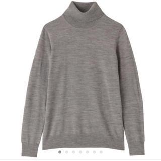 ムジルシリョウヒン(MUJI (無印良品))の無印良品 muji チクチクしない 洗える タートルネックセーター グレー(ニット/セーター)