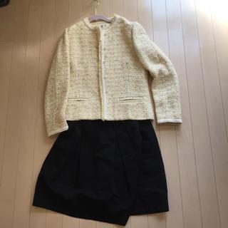 ドゥーズィエムクラス(DEUXIEME CLASSE)のドゥーズィエム  ツイードジャケット  ノーカラー  入園式 入学式(スーツ)