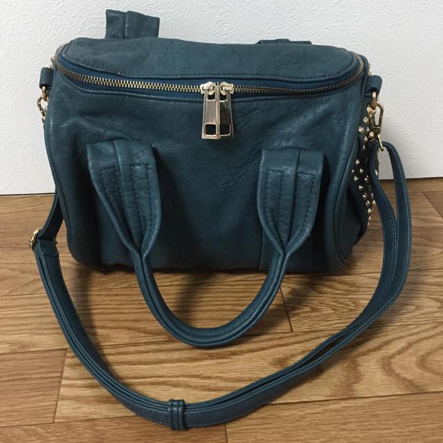 Stella McCartney(ステラマッカートニー)のヴィモーダ ショルダーバッグ スタッズ グリーン パープル レディースのバッグ(ハンドバッグ)の商品写真