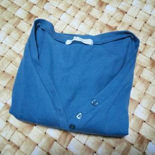 イッカ(ikka)のブルーグリーンカットソー(size:L)(カットソー(長袖/七分))