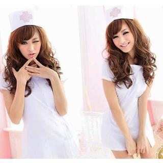 最安値★看護婦 ナース服・帽子 2点セット 白 コスチューム レディース(衣装一式)