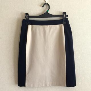 デミルクスビームス(Demi-Luxe BEAMS)のデミルクスビームス♡バイカラー膝丈スカート(ひざ丈スカート)