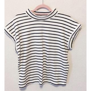 ジーユー(GU)のストライプノースリーブ(Tシャツ(半袖/袖なし))