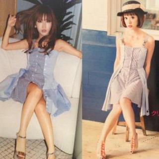 ドロシーズ(DRWCYS)の紗栄子ちゃん着用 ストライプワンピース(ミニワンピース)