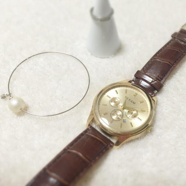 大人可愛い◎シンプルブラウン腕時計新生活 レディースのファッション小物(腕時計)の商品写真