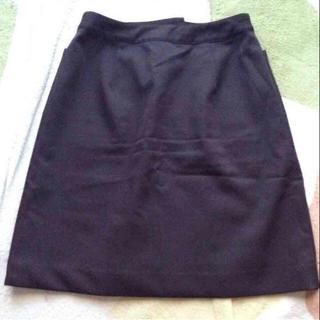 ヨンドシー(4℃)の4℃☆シンプル定番型 台形スカート☆Mブラウン(ひざ丈スカート)