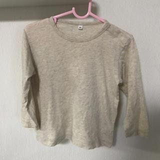 ムジルシリョウヒン(MUJI (無印良品))の無印 90 長袖 春のロンT カットソー 無地ベージュ(Tシャツ/カットソー)