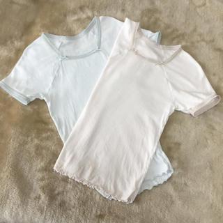 16f75efb8ff48 シャルレ(シャルレ)の下着 シャルレ 半袖2枚 (130)(下着)