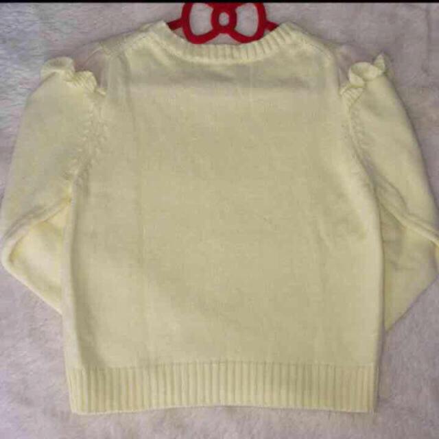 Dip Drops(ディップドロップス)の流行りのイエローの春ニット レディースのトップス(ニット/セーター)の商品写真
