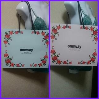 ワンウェイ(one*way)の✩ちーちゃん♡様 専用✩ one way限定ショッパー(ショップ袋)