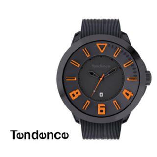 テンデンス(Tendence)のテンデンス TT530003 ガリバースポーツ ブラック&オレンジ 腕時計(ラバーベルト)
