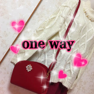ワンウェイ(one*way)のone way❤お姉さんレッドのバッグ(ショルダーバッグ)