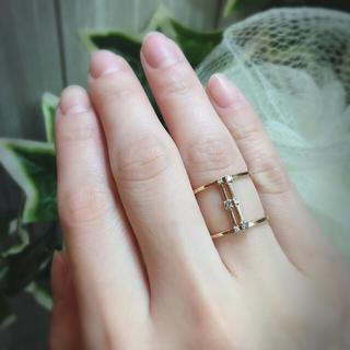 エテ(ete)の★ete★k10★ディアマンテ グレーダイヤモンド&ダイヤモンド リング(リング(指輪))