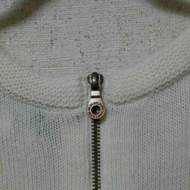 BURBERRYニットワンピ⭐白に変えた レディースのワンピース(ひざ丈ワンピース)の商品写真