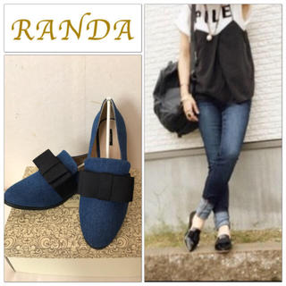 ランダ(RANDA)の未使用 RANDA りぼんデニムローファー(ローファー/革靴)