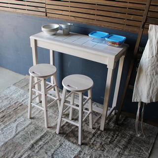 カウンターテーブル&スツール 3点セット(バーテーブル/カウンターテーブル)