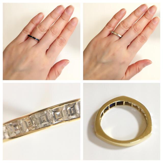 【田中貴金属】サファイヤ0.85ct&ダイヤ0.65ct K18リング レディースのアクセサリー(リング(指輪))の商品写真