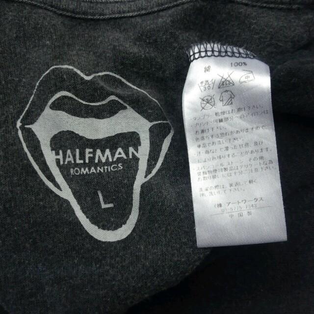 HALFMAN(ハーフマン)のHALFMAN ハーフマン バンド Tシャツ ロング チュニック L  レディースのトップス(Tシャツ(半袖/袖なし))の商品写真