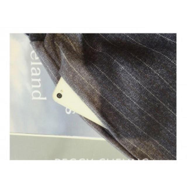 ガウチョ ワイド パンツ グレー ストライプ柄 クロップド イージー フレア ♡ レディースのパンツ(クロップドパンツ)の商品写真