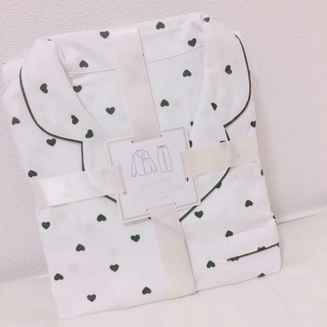GU(ジーユー)のハートプリントパジャマ レディースのルームウェア/パジャマ(パジャマ)の商品写真