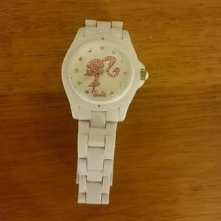 バービー(Barbie)の【値下げしました】 バービー  ホワイト腕時計(腕時計)