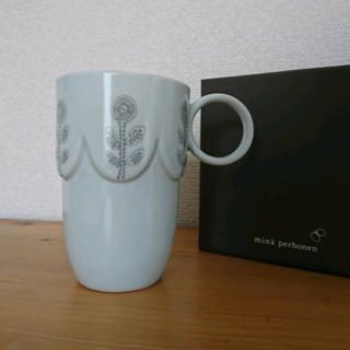 ミナペルホネン(mina perhonen)の未使用 ミナペルホネン pudding マグカップ グレー(グラス/カップ)