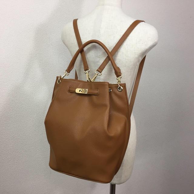 Mila Owen(ミラオーウェン)の美品 ミラオーウェン 2WAY バッグ リュック ブラウン キャメル レディースのバッグ(リュック/バックパック)の商品写真